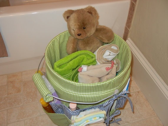 baby bath bucket. I can make a zillion of these for all the pregnant friends!