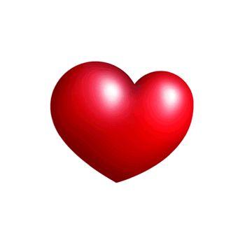 Corazón con movimiento latiendo