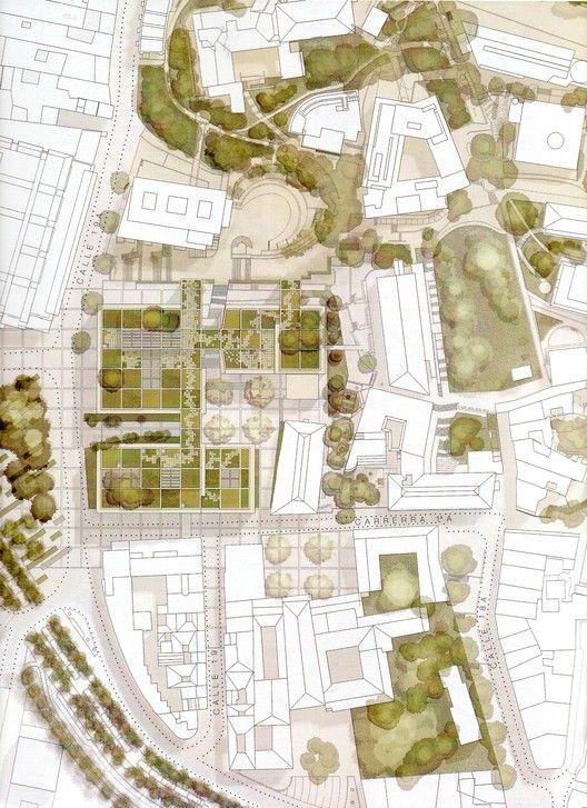 Conoce el futuro centro cívico universitario diseñado por Konrad Brunner y Cristián Undurraga en Bogotá,Planta general