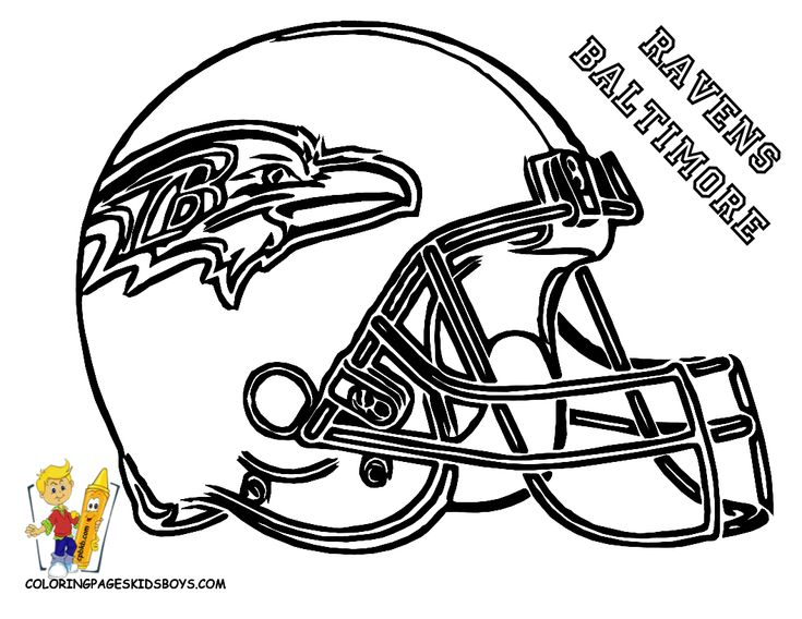 03 Baltimore Ravens Football Coloring At Coloring Pages Book For