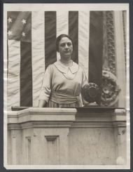 Winnifred Huck, first female Illinois Congressperson and prison rights reformer, on the Rostrum in the House Chamber