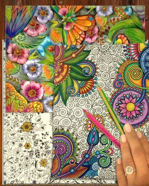 *colourings* #JohannaBasford #RelaxWithArt #queenm ♡