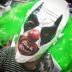 Arkham City Villian. New Henchmen Full Faced Charcater Mask. Official DC COMICS Mask JUST $57! Added to Becs Costume Box Collection after my new found of Arkehm Comics and TV Show. Season 3 is now out!! http://ift.tt/2HjnUAz #arkhemcity #henchmen #clowns #villian #villians #batman #circus #halloween #dccomics #dc #becscostumebox #comics #mask #masks #costumes #fancydress #dressups #greenhair #green #makeup #clown #horror #tvseries #superheroandvillains #rubies