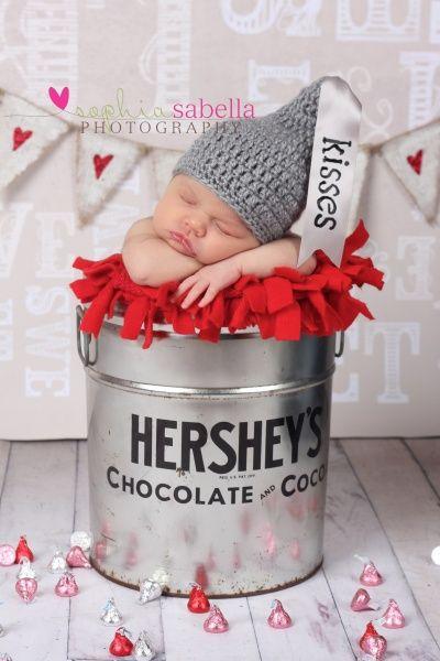 "newborn picture idea, if we ever have kids, i def want to do this b/c i call hurshel my "" hursheykiss"""