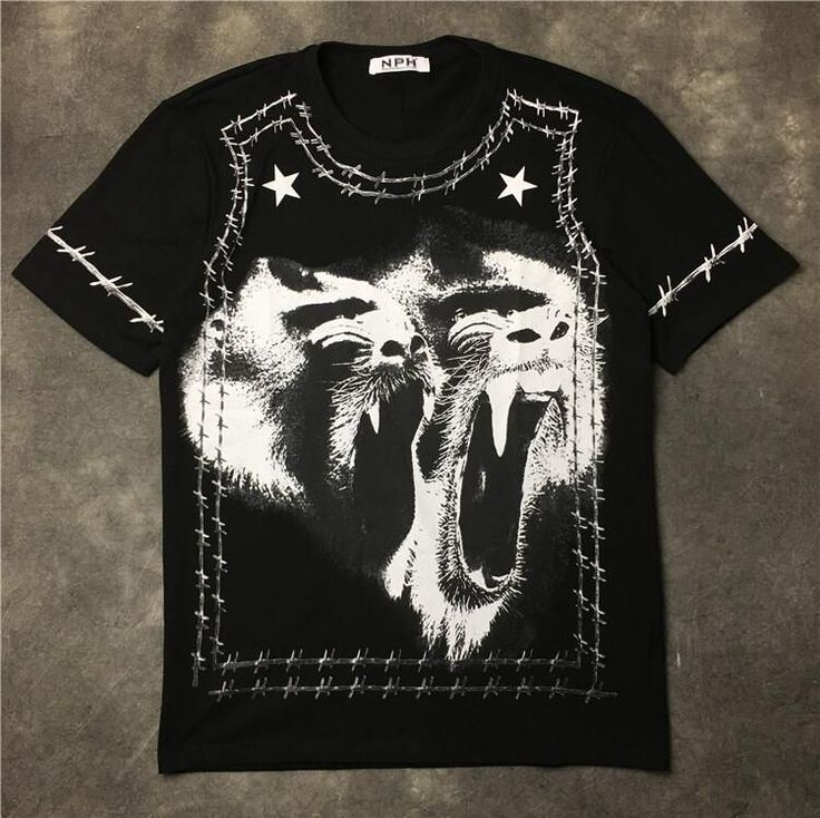 New High 2017 Men Thorns Orangutan Print T Shirts kanye T-Shirt Hip Hop Skateboard Street Cotton T-Shirts Tee Top Top #B32 #skateboardingshirt