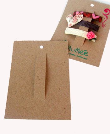 Small Hairclip Display Cards - similar style probably would work for pins