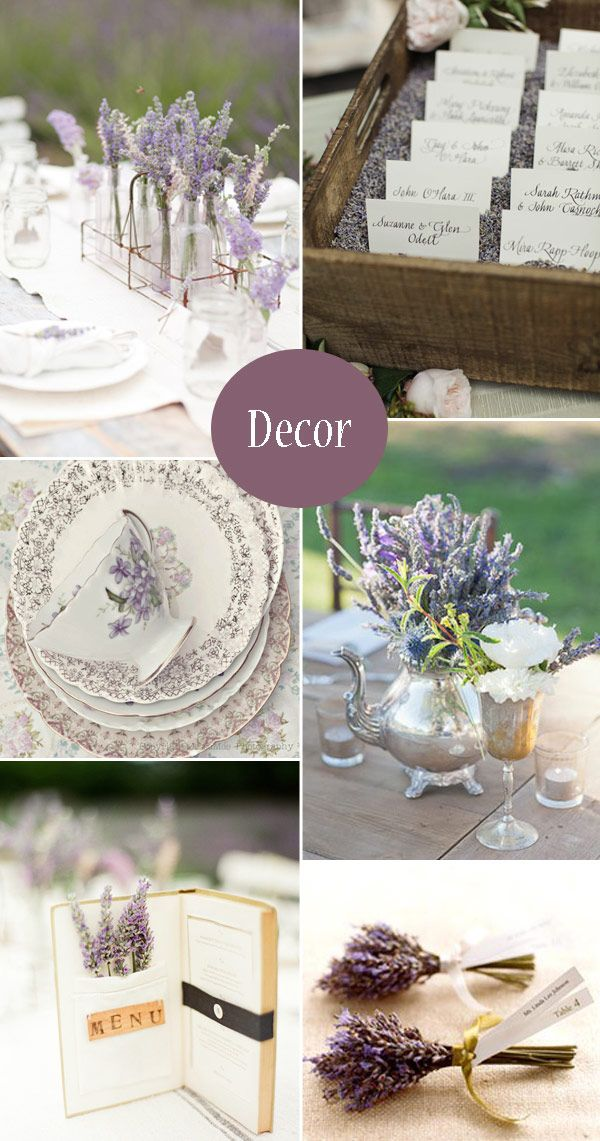 Accents of Lavender in the Wedding Decor  --  http://onefabday.com/lavender-wedding-ideas/