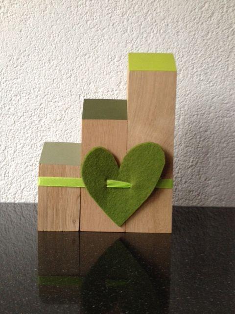 groen, met hand en liefde gemaakt