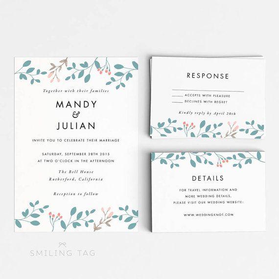 Best 25+ Botanical wedding invitation sets ideas on Pinterest - invitation letter pdf