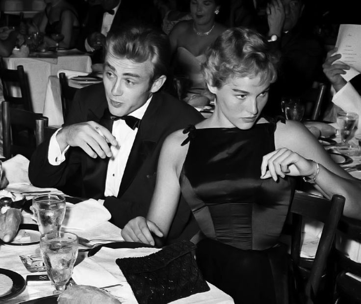 James Dean and Ursula Andress, 1955.