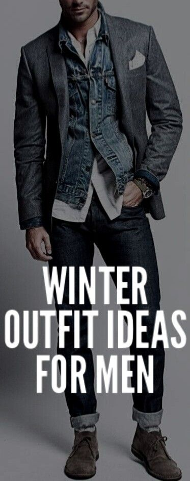 Coolest Winter Outfit Ideas For Men #mensfashion #style