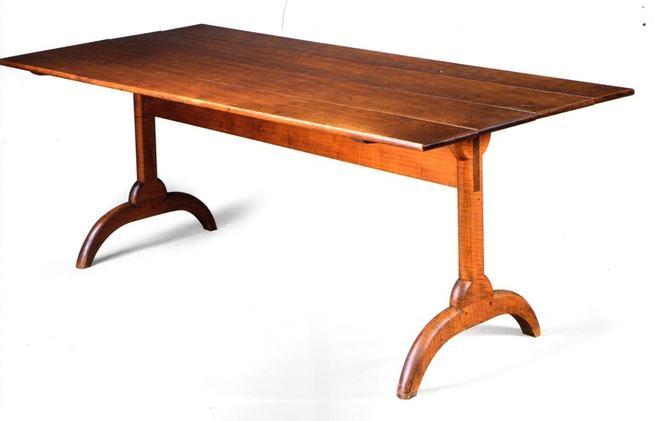 Shaker Trestle Table 1830 Cherry Amp Curly Maple Dining