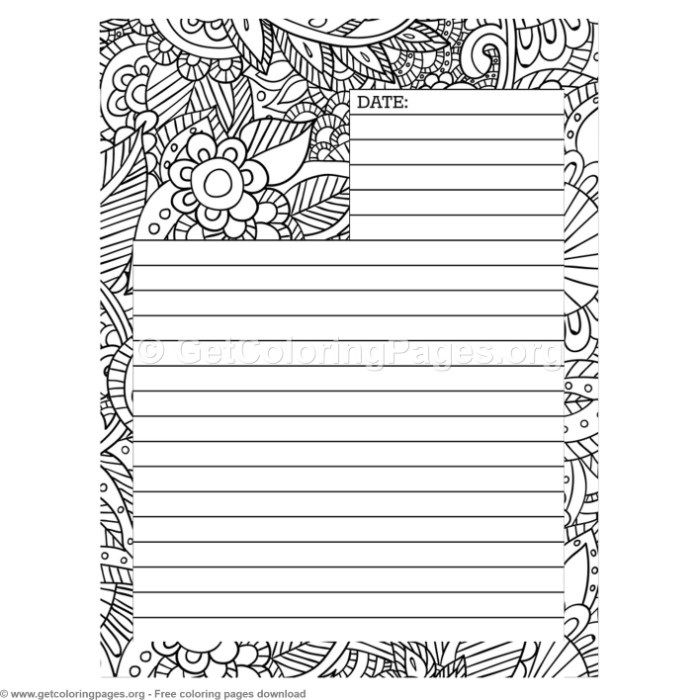 4 Journal Page Coloring Pages Getcoloringpages Org Coloring Coloringbook Coloringpages Coloringb Coloring Journal Coloring Pages Journal Pages Printable