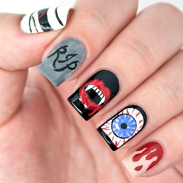 Halloween Nail Art Design #nailart #nails #halloweennails #nailartdesign