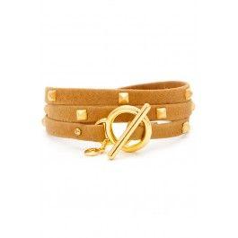 Gorjana 'Graham Leather Stud Wrap' | Orchid Boutique
