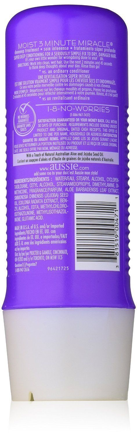 Aussie Moist Shampoo and Conditioner, 29.2 Ounce Pump Each, Plus 3 Minute Miracle Moist, 8 Ounce ** You can find more details by visiting the image link. #hairup