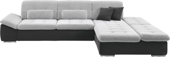 Diese Wohnlandschaft von VITO garantiert erstklassigen Sitzkomfort in Ihrem Wohnzimmer. Bei einem Schenkelmaß von ca. 319 x 213 cm bietet das Möbel Platz für Sie, Ihre Familie und Ihre Gäste. Dank Schaumstoff und Wellenunterfederung sitzen Sie bequem. Eleganz und Qualität werden im Bezug aus einem hochwertigen Mischgewebe vereint. Dieser überzeugt mit guter Lichtechtheit und Abriebfestigkeit. Dank der Farbkombination aus Anthrazit, Grau, Schwarz und Weiß passt das Möbel p