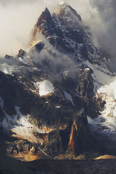 Mountainscape of the Rongme Ngatra ri looking on his glacier (Cho La Ri), Tibet