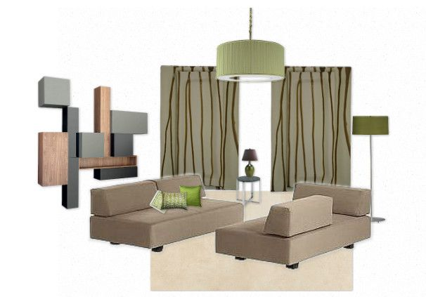 ideas for a green living room by re-make