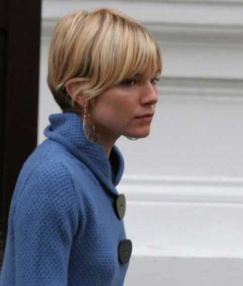 25 best ideas about Sienna miller short hair on Pinterest