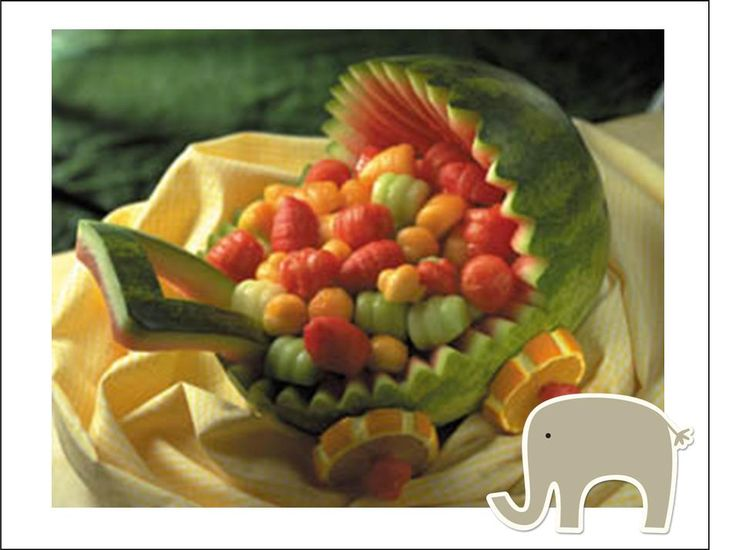 Watermelon Baby Shower Food Have Also Seen This Not As A Stroller But As U0027baby  Fruit Saladu0027; The Way The Fruit Is Placed Inside Hallowed Watermellon Looks  ...