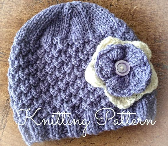 Free Baby Beanie Knitting Pattern : 17 Best ideas about Aran Weight Yarn on Pinterest Knitted baby hats, Knitte...
