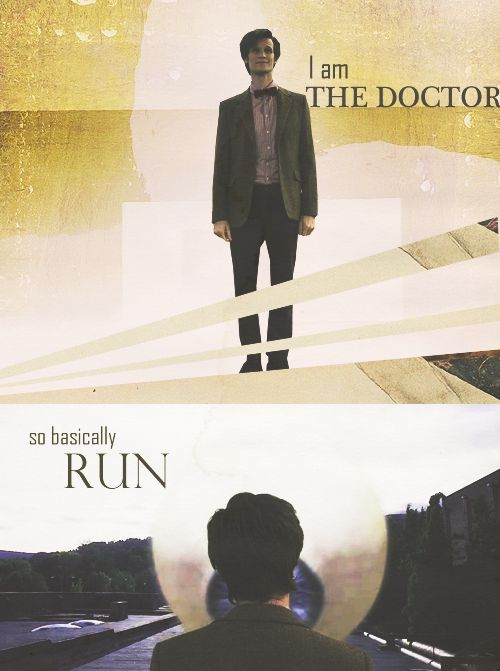 """Doctor Who series 5 episode 1 The Eleventh hour """"I am The Doctor. So basically… Run"""""""