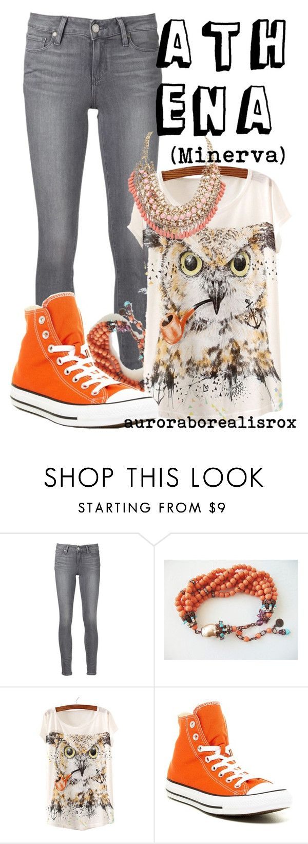 """Athena // Minerva"" by auroraborealisrox ❤ liked on Polyvore featuring Paige Denim, Converse, Retrò and mythologyinspired"