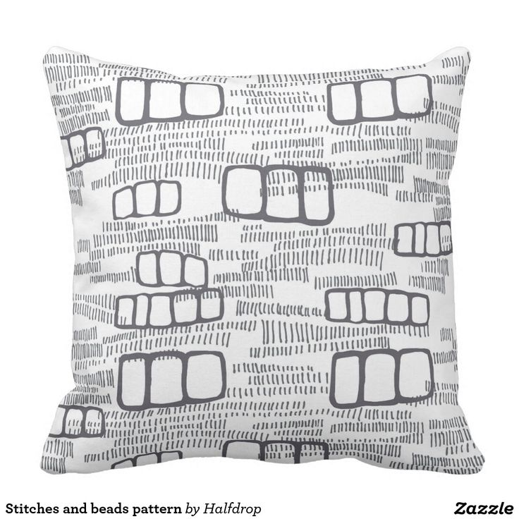 Stitches and beads pattern pillow
