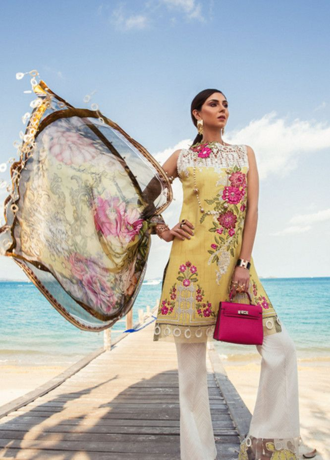 645bb8c50d Noor by Saadia Asad Embroidered Lawn Unstitched 3 Piece Suit NSA19L 2A -  Spring / Summer Collection