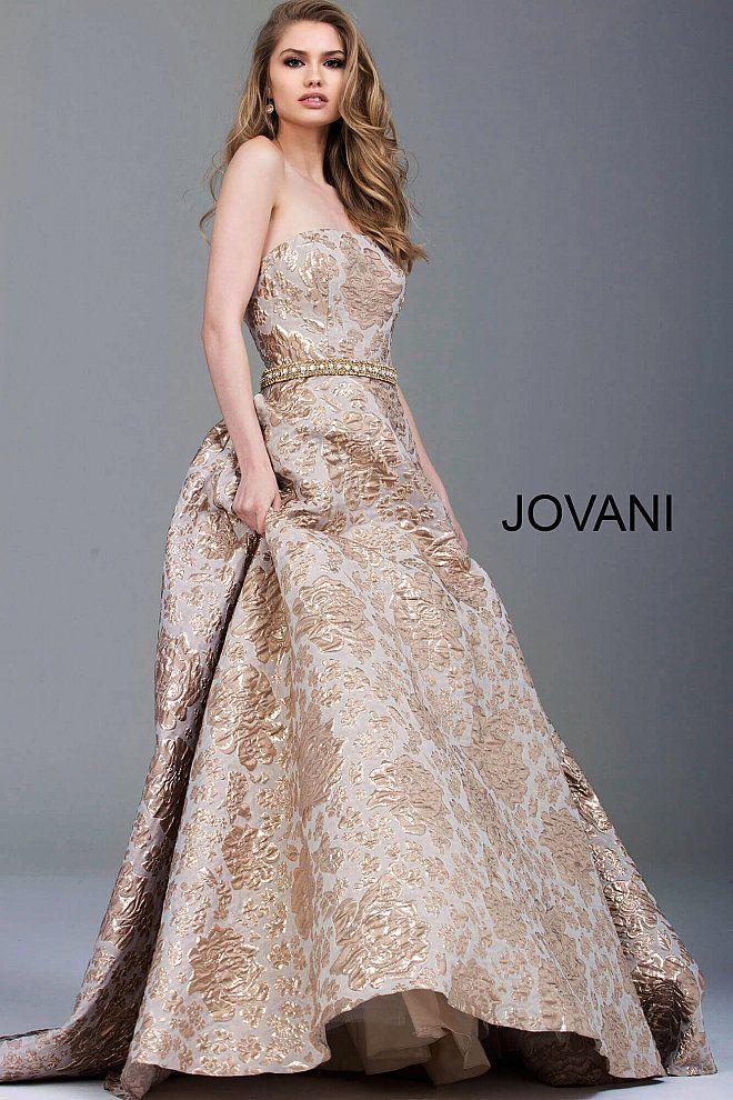 51852 Jovani Promdress Metallic Prom2018 Metallic Dresses 2018