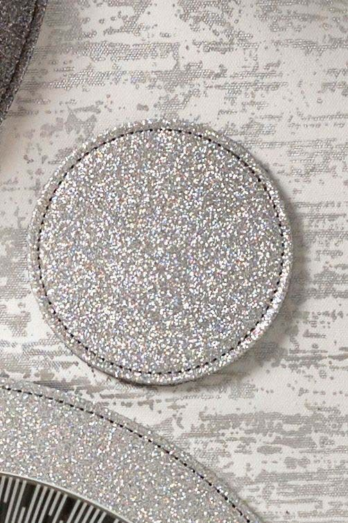 Next Set Of 4 Reversible Glitter Table Mats And Coasters Silver Silver Coasters Glitter Placemats Placemats