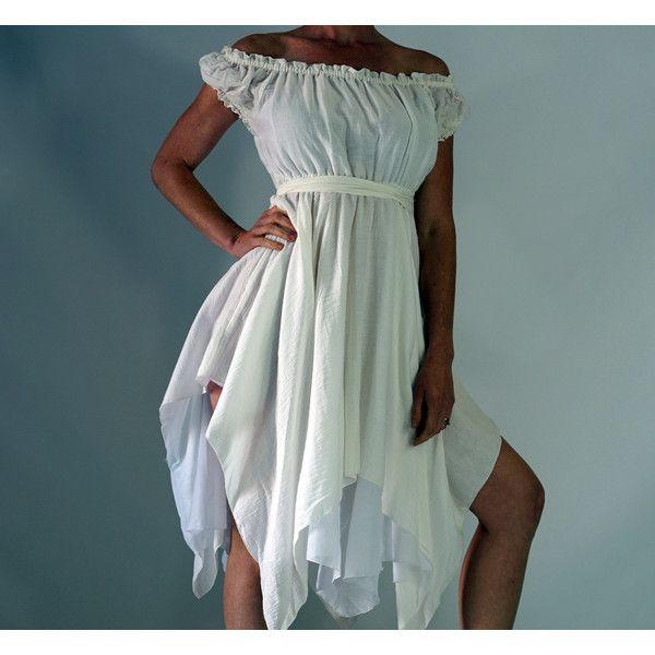 Gypsy Dress Ss Zootzu Renaissance Festival Dress Medieval Dress... ($55) ❤ liked on Polyvore featuring dresses, gowns, grey, women's clothing, renaissance ball gown, gypsy dress, double layer dress, renaissance dress and grey dress