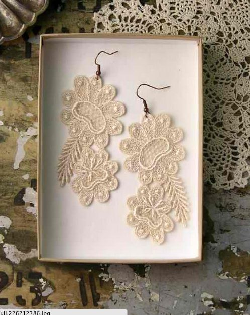 An idea of what to do with the lace from mom or grandma's wedding dress. Something old