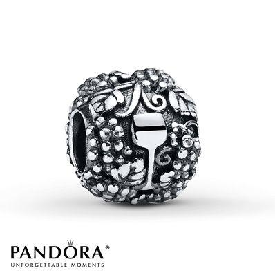 PANDORA Charm Wine Glass Sterling Silver