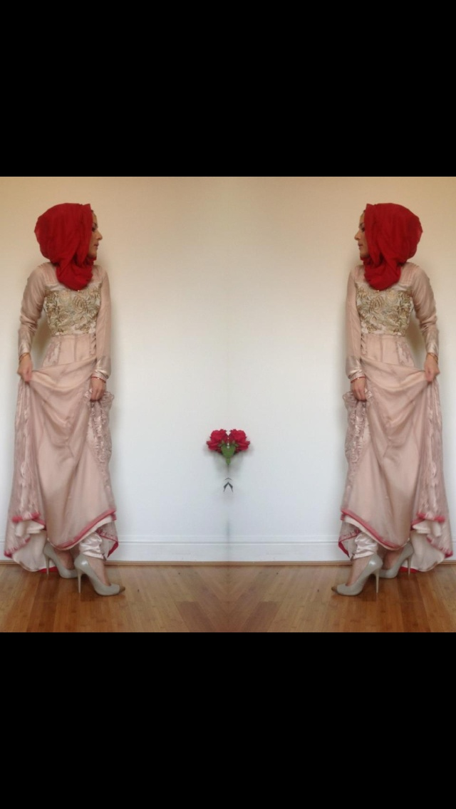 Indian outfit with hijab