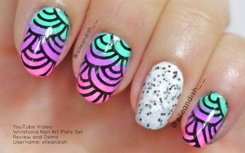 Winstonia Nail Art Stamping Plate Review and Demo