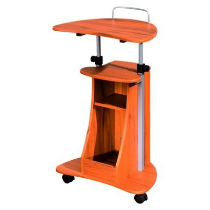 Mobile Notebook Computer Cart with Storage - Wood Grain.@ Target or Walmart. Adjustable height top.