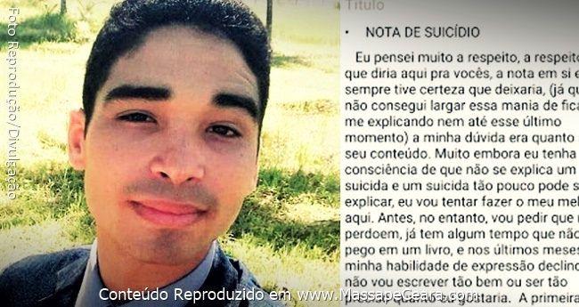 Jovem testemunha de Jeová comete suicídio e deixa carta no Facebook; leia: ift.tt/2tRLX3r