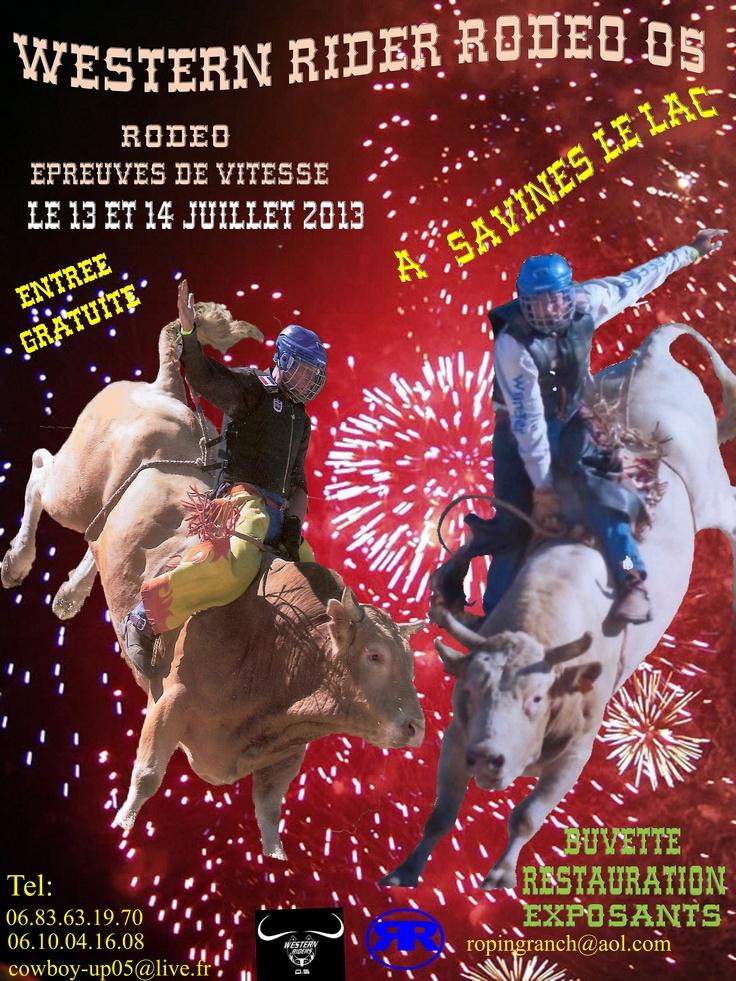 SAVINES LE LAC - 13 et 14 juillet - WESTERN RODEO RIDERS - Stade de la Commune  L'organisateur Western Riders 0.5 recherche encore des partenaires !    Contactez Western Riders dès maintenant : 06 83 63 19 70 / 06 10 04 16 08 / cowboy-up05@live.fr