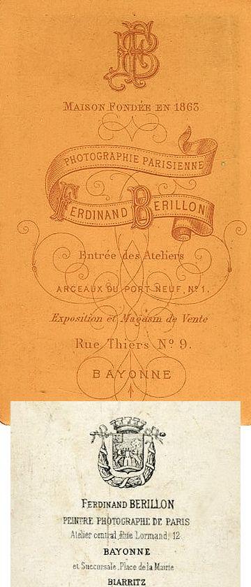 Ferdinand BERILLON (2 versions) - Bayonne, Pyrénées-Atlantiques