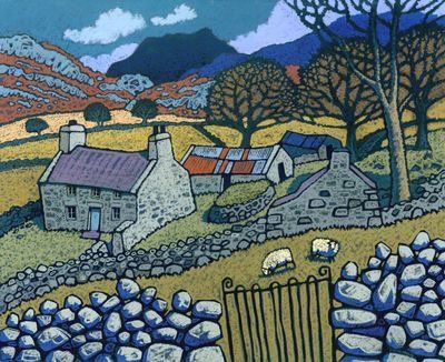 @HWarlow 12Jan2016 -   I have to admit that I am a huge fan of the artist Chris Neale. Like the detail and colours. #Mountains too.