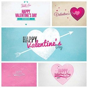 LOVELY VALENTINES PAPER CARDS BUNDLE - http://freepicvector.com/lovely-valentines-paper-cards-bundle/