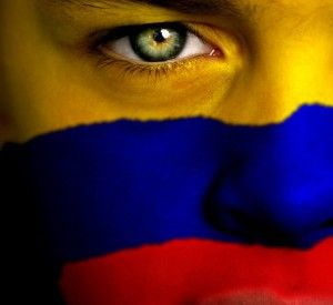 Colombia Flag Face |