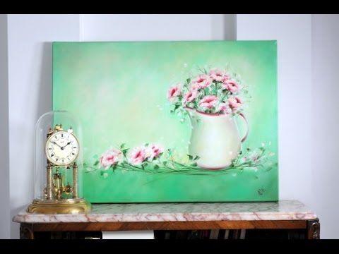 Como Pintar al Oleo en Pocos Pasos - Still Life - Jarron con Flores -Cla...