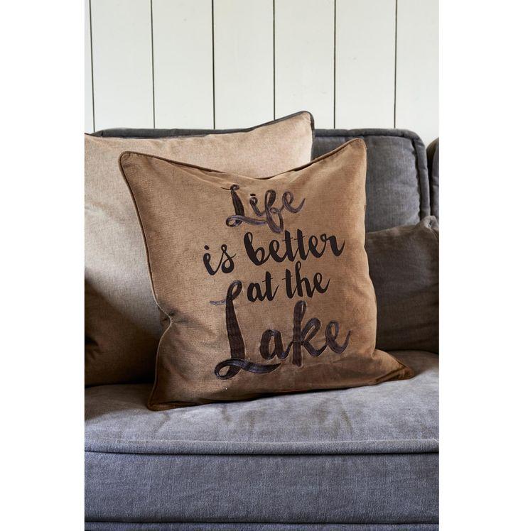 Lake Champlain Life Is... Pillow Cover 50x50 - Autumn 2016 | Rivièra Maison