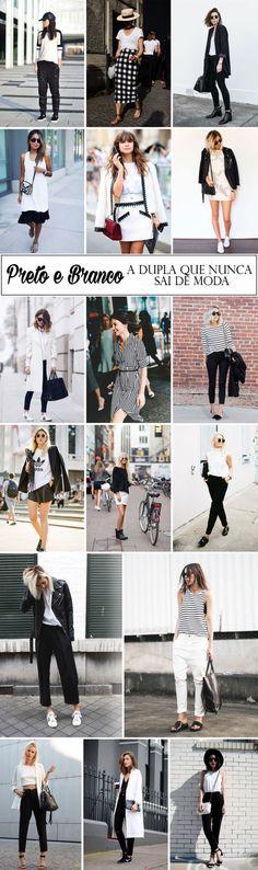 Preto e branco: a dupla que nunca sai de moda. Inspiração do Blog da Mariah.