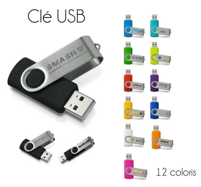 Principales Spécifications : design Bi- matière : corps plastique & métal, , clé USB avec marquage sur les 2 côtés, USB 2.0, compatible 1.1, GNU/Linux, Mac et PC, vitesse : jusqu'à 9 MB/s en lecture et de 3 à 6 MB/s en écriture, livré en boite carton neutre, L 55 x l 19 x h 11 mm  Gravure Laser 2 positions,Gravure laser monochrome.  Disponible en 1GO, 2GO, 4GO, 8GO.