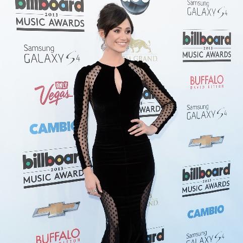 Love it or Leave it? Vote on Emmy Rossum's sleek black look at the Billboard Music Awards.