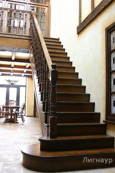 Деревянная лестница из дуба на косоурах - деревянные лестницы, интерьеры из дерева, отделка деревом | дизайн проекты, дизайны интерьера | столярные изделия | мебель из натурального дерева